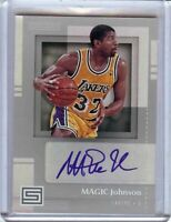 Magic Johnson 2017-18 Panini Status Auto Autograph Los Angeles Lakers #SG-MJG