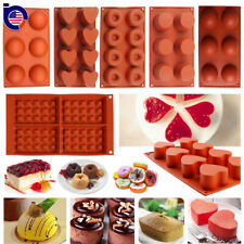 Silicone Cupcake Muffin Candy Pan Pudding Pastry Bakeware Cake Baking Tray Mold