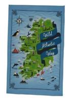 Wild Atlantic Way Linen Union Tea Towel by Samuel Lamont