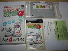 Super Mahjong 3 Super Famicom SFC SNES Japan import complete in box
