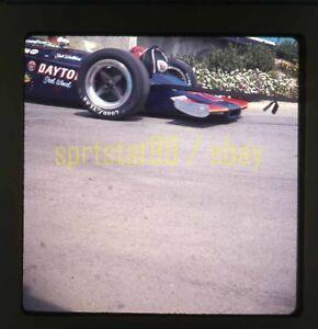 Salt Walther #77 McLaren - 1972 USAC California 500 - Vintage 35mm Race Slide