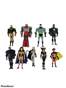Mattel DC Batman: JLA and other DC Animated Action Figure Lot of 9