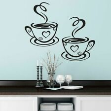 Coffee Cups Wall Sticker Kitchen Dining Room Removable Decoration Wall Decal