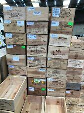 Wooden Wine Box Crate ~ 12 Bottle French, Storage Drawer Planter Hamper Wedding!