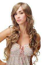 Women's Wig Very Long Wavy Curly Braun Light Blonde Strands 8144