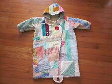 Marilyn Wolf Designs Handmade VTG Patchwork Chenille Baby Doll Bunting Blanket