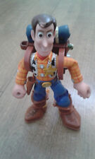 """Disney Pixar Toy Story 6"""" Posable Talking Woody Backpack Action Figure VERY RARE"""