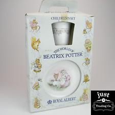 Royal Albert Beatrix Potter 3pc Children's set w/Original Box
