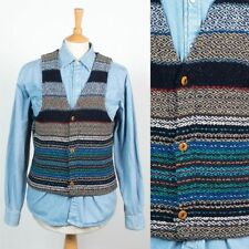 Striped Polyester Casual Waistcoats for Men