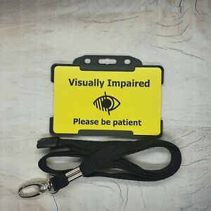 Visually Impaired ID Card Lanyard Visual Impairment hidden disability
