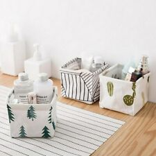 Fabric Basket Foldable Storage Bin Closet Toy Box Home Desktop Storage Basket