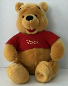 Disney Store Winnie the Pooh Plush Bear with Red Shirt 19 in