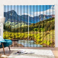 3D Print Blackout Window Curtain for Living Room Bathroom Decor,150x166cm