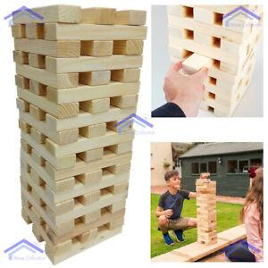 1.2m Giant Jenga Tumbling Tower Wooden Blocks Indoor Outdoor Family Garden Game