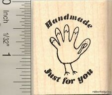 Handmade Thanksgiving rubber stamp D11109 WM gift tag