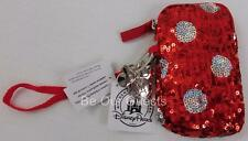 Disney Parks Minnie Mouse Sequin Smart Phone Zipper Case New