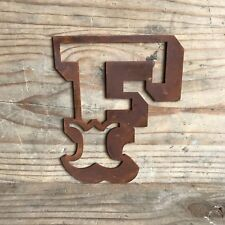 "F CARNIVAL FONT 5"" RUSTY METAL LETTER HOUSE SHOP HOME VINTAGE RETRO SIGN RUSTIC"