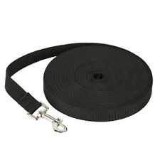 Dog Leash Long Obedience Recall Foot Feet Training Lead 6/15/30/50/100 FT: Black