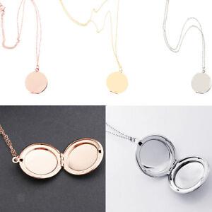 Photo Locket Round Shape Pendant Necklace Pendant Jewelry for Women Mens
