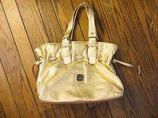 New!  Dooney and Bourke Metallic Gold Leather Handbag