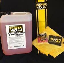 Power Maxed Alloy Wheel Stain/Mark Remover 5 litre+Free Micro fibre,Shampoo Wax
