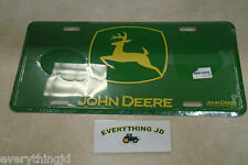 John Deere Metal License Plate (Green/Yellow) - JD04159