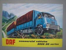 DAF  Trucks  2000 DO serie   brochure/Prospekt  (English) 1961.