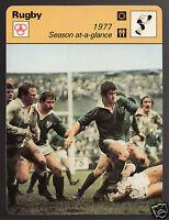 ENGLAND vs IRELAND Rugby Game Photo 1977 Season 1978 SPORTSCASTER CARD 25-13