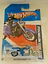 Hot Wheels HW Main Street Boss Hoss Police Motorcycle 8/10 Mattel Toys #187/365