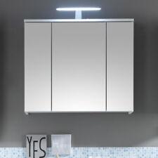 Spiegelschrank Spice Spiegel Badschrank Badezimmer weiß mit LED-Beleuchtung