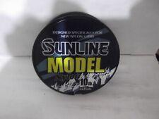 Sunline Model Nylon 10 lb clear monofilament  660yd spools