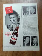 1944 Spur Soda Bottle Ad Finest Cola