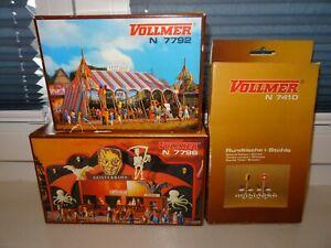 NEU ! Spur N Vollmer  7796 7792 7410 Geisterbahn Festzelt Garnitur Jahrmarkt