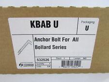 """ NEW LITHONIA LIGHTING ANCHOR BOLT FOR ALL BOLLARD SERIES KBAB-U 532526"