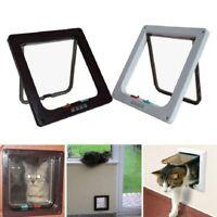 4 Way Small Medium Large Pet Cat Puppy Dog Magnetic Lock Lockable Safe Flap Door