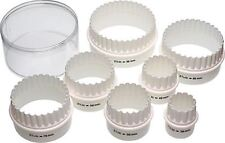 Kitchen Craft Plastic Double Edged Biscuit / Pastry Cutters, Set of Seven