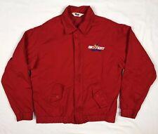 Vtg Mvp Skyfest Daytona Air Show Mens Red Full Zip Harrington Jacket Sz Small