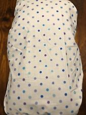 PURPLE AND BLUE SPOT NEW HAND MADE COTTON CHANGE TABLE COVER, MAT NAPPY