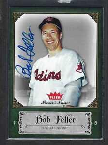 2006 Fleer GOTG Bob Feller HOF #11 Auto Autographed Signed Cleveland Indians