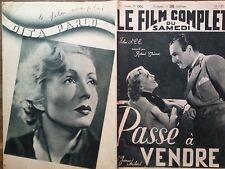 "LE FILM COMPLET 1937 N 1924 -"" PASSE A VENDRE "": JEANNE AUBERT- PIERRE BRASSEUR"