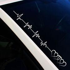 Frontscheibenaufkleber HerzschlagH Weiß Matt Sticker Tuning Auto Decal FS19