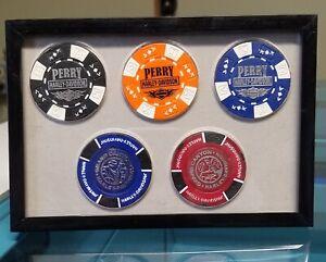 6x4 Insert - Harley Davidson Poker Chip Display - Holds 5 - Chips Optional
