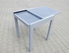 Gartentisch Glastisch Ausziehbar Quadrat 65x65/130cm,Aluminium+Glas+Retourware