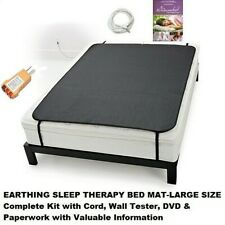 EARTHING GROUND THERAPY SLEEP BETTER QUALITY NEW BED MAT+ EXTRAS REDUCE STRESS