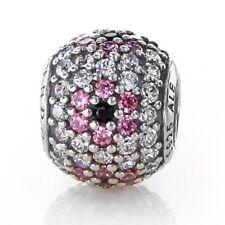 New Genuine Pandora CHERRY BLOSSOM PAVE BALL Charm INC POP UP BOX Gift Love