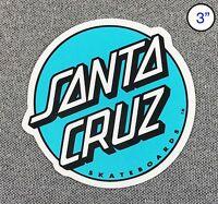 Santa Cruz Other Dot Skateboard Sticker Turquoise/White 3in si