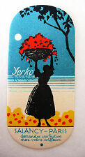 "ANCIENNE CARTE PARFUMEE ""YERKO"" DE LA PARFUMERIE SALANCY / 2"