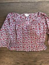 Vertbaudet Peasant/ Boho/ Country flowers Paisley blouse/ top/ shirt Girls Age 3