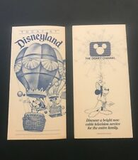 Vtg Disney Ephemera 1983 Today at Disneyland Entertainment Schedule Flyer