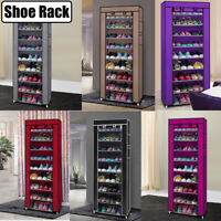 10 Layers 9 Grid Non-woven Fabric Shoe Rack Easy Assembly Shelf Storage Closet